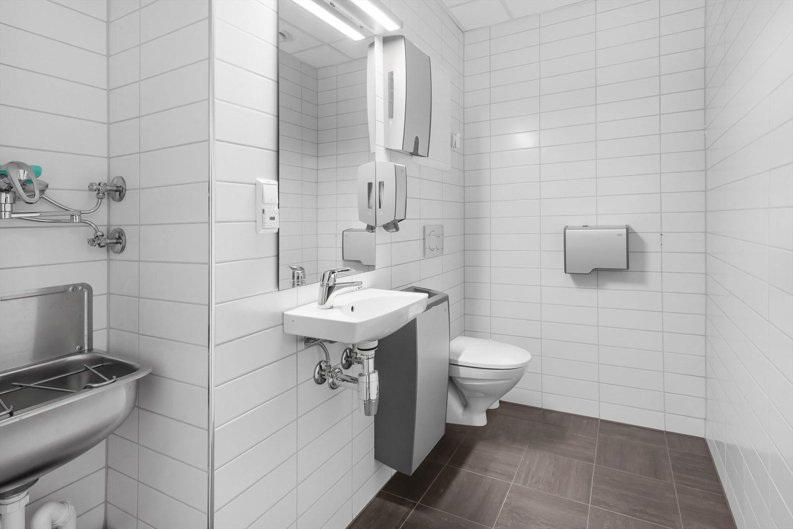 Toalett i arealet