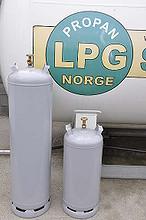 Store gassflasker propan
