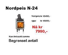 Nordpeis N24 innsats, Antrasitt ramme