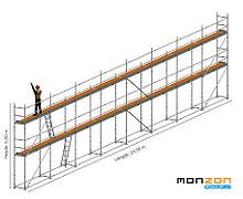 Stillas 147 m2 fra MonZon Modular Light