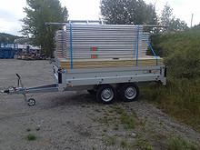 Stillas glassfiber 135 m2 m/henger
