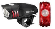 Niterider kvalitets lyktesett sykkel foran og bak inkl. batterier