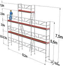 Stillas 56 m2 gavlpakke