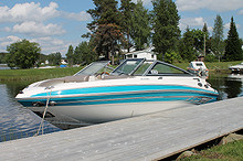 2009 Glastron 195 GLS. 5,0 V8 270 HK .Ferskvannskjørt.Fantastisk morsom båt med masse krefter og fin lyd..Som ny.Gangtid ca 60 timer