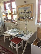 Koselig hvitmalt bord