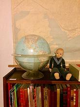 Fin gammel globus