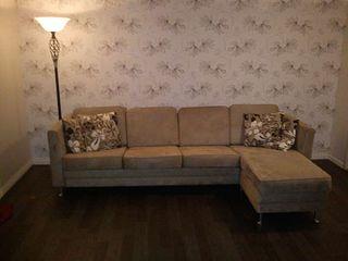 Astonishing Pen Microfiber Sofa Med Sjeselong Finn No Alphanode Cool Chair Designs And Ideas Alphanodeonline