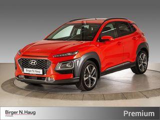 Hyundai Kona 1,0 T-GDI Teknikkpakke Skinn/KRELL/Head-up/LED+++  2018, 4000 km, kr 269000,-