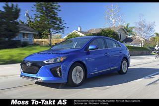 "Hyundai Ioniq Teknikk , Ventilerte skinn seter, ""NORSK"" bil! NY PRIS!  2018, 4000 km, kr 310000,-"