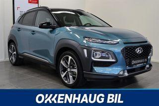 Hyundai Kona 1.0T, skinn, keyless, navi, rygg.kamera, ventilerte se  2018, 4000 km, kr 279900,-