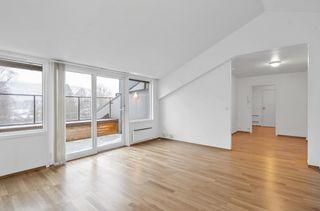 Flott 3-roms leilighet midt i Evje sentrum. Ingen fellesgjeld. Heis. Egen balkong, garasje og stor bod.