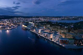 Kanalbyen. Bo rolig og solrikt ved sjøen i Kristiansand sentrum. Visning tirsdager kl 16.30!
