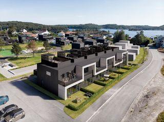 Lunteviksletta - 6 moderne rekkehus med takterrasse