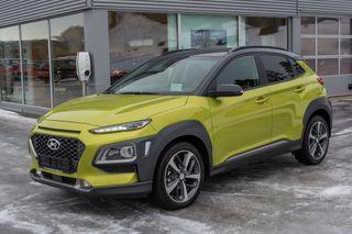 Hyundai Kona 1,0 T-GDi 120hk Teknikkpakke m/Skinn Two-Tone  2018, 1500 km, kr 278000,-