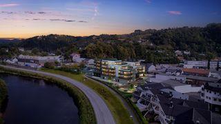 BYGGESTART BESLUTTET!  Strands eiendom -  Nye leiligheter i Lyngdal sentrum.            13  LEILIGHETER ER SOLGT!