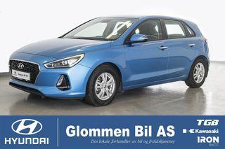 Hyundai i30 1.0  Plusspakke, Navi, DAB, ryggekamera  2018, 31500 km, kr 174800,-