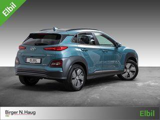 Hyundai Kona 64 kWt Teknikk NYLIG SERVET/VENTILERTE SKINNSETER/HUD  2019, 19973 km, kr 378900,-