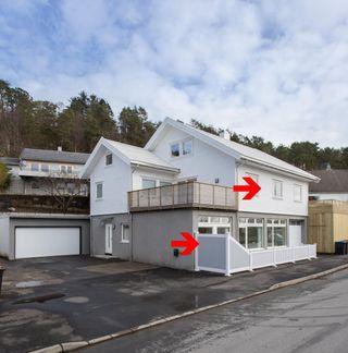 3 totalrehabiliterte leiligheter  m/ store terrasser og garasje. 1 er solgt.