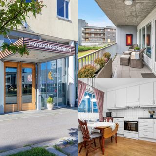 Påmld. visning 22/10- Flott 3-roms seniorleilighet (50+) med solrik flislagt balkong og garasjeplass i kjeller