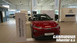 Hyundai Kona 64Kwh 204Hk Teknikk med skinn Sort tak!  2018, 32500 km, kr 359000,-