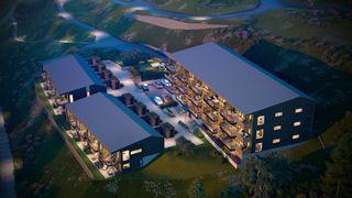 15 Bynære leiligheter med utsikt, store balkonger, fantastiske solforhold og komplette uteområder.