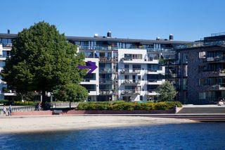 Bystranda Aveny - Pen nyere 3-roms leilighet med flott sjøutsikt-Heis-Garasjeplass-Solrik balkong-Felles takterrasse
