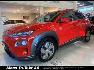 Hyundai Kona 64 kWt Teknikk SKINN, NORSK UTGAVE,  2019, 8500 km, kr 349000,-