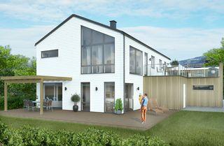Falkum - Eksklusiv prosjektert enebolig med høy standard, takterrasse og dobbel garasje