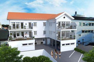 Leilighetsbygg med 4 leiligheter midt i hjertet av Langesund. Heis-carport-vestvendte balkonger. Byggestart er besluttet