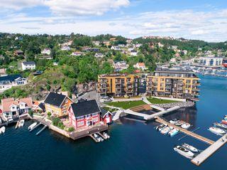 Havstadodden | Byggingen er i gang | Innflytting før høst '21 | Romslige leiligheter i sjøkanten | Mulighet for båtplass