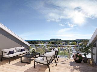 Lekkert, nyoppført rekkehus i sentrum. Fantastisk utsikt mot Hatholmen og Ryvingen.