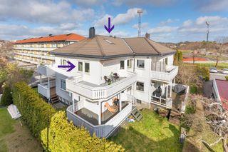 Flott 2- roms selveier i 2 etg. med stor solrik balkong - Meget sentral beliggenhet!