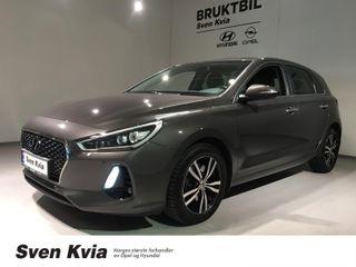 Hyundai i30 1.4 140 HK Automat Teknikkpakke, DAB+, Navi, LED  2018, 40300 km, kr 229000,-