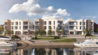 ODDEN BRYGGE - Grimstad | 18 flotte, prosjekterte leiligheter midt i byen - Byggetart bygg A vedtatt