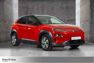 Hyundai Kona 64 kWt STYLE M/DELSKINN Råtøff Fargekobinasjon  2019, 6012 km, kr 365000,-