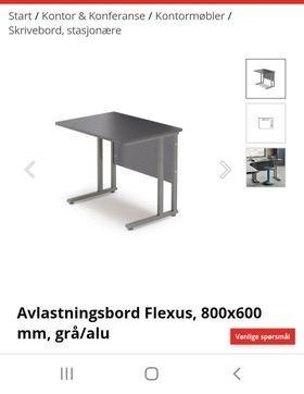 Aj produkter skrivebord med avlastningsbord. | FINN.no