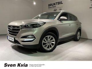 Hyundai Tucson 1.7 141HK AUTOMAT. PLUSS PAKKE M SKINN  2017, 96100 km, kr 259000,-