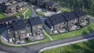 17 flotte familieboliger i nytt boligfelt -mulighet for praktikantdel -nydelig utsikt og turterreng-pris fra 4 750 000,-