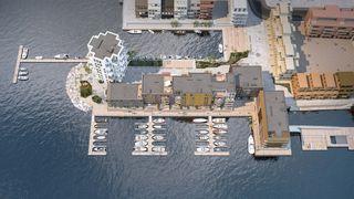 Bryggebyen | Bygg A-E | Trinn 1 | Se bilder fra byggeplassen | Alle får sjøutsikt