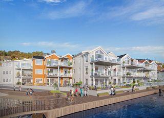 Biodden Brygge | Flott boligprosjekt på solsiden av Grimstad sentrum | Salget er i gang!