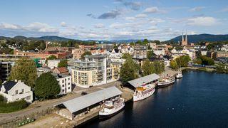 Innbydende leilighet i sentrumsperlen Victoriagården ved Telemarkskanalen - 2 soverom - balkong - høy standard