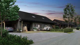 Velkommen til Nenset Hage- Boligprosjekt med 16 leiligheter fordelt på 8 tomannsboliger i grønne og solfylte omgivelser!