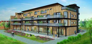 Ljosheim - Prosjekterte, solrike leiligheter i sentrum - gjennomgående og med balkonger - p-plass/bod i kjeller - heis