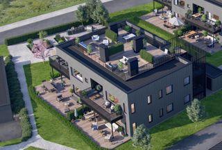 Flotte, prosjekterte leiligheter i 4mannsbolig med mulighet for egen, privat takterrasse