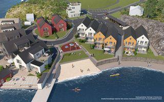 Vågsnes Havn | Vestvendt strandeiendom | 15 prosjekterte, romslige og innholdsrike eneboliger i kjede | Kun 3 ledige!