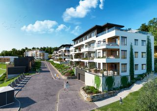 TØNNEVOLLSKOGEN -  Solrike leiligheter sentralt i Grimstad | 3-4-roms | Store uteplasser