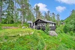 Koselig hytte med utsikt over Murtetjønn - bilvei helt frem - vann til hyttevegg og solcelleanlegg