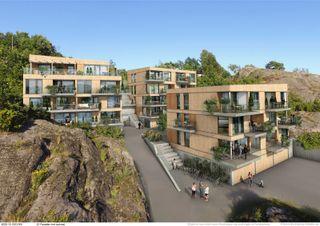 Sjøsiden Valle - 17 leiligheter - Panoramautsikt mot sjøen, nær vannkanten og egen båtplass!