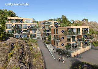 Sjøsiden Valle - 17 leiligheter, flere med panoramautsikt mot sjøen, plassering like ved vannkanten, egen båtplass