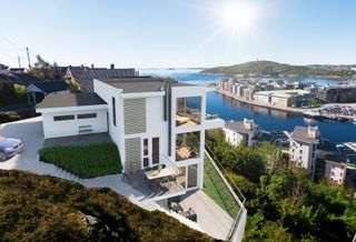 Arkitekttegnet vertikaltdelt bolig